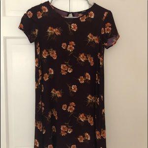 Floral Print Flowy Shift Dress
